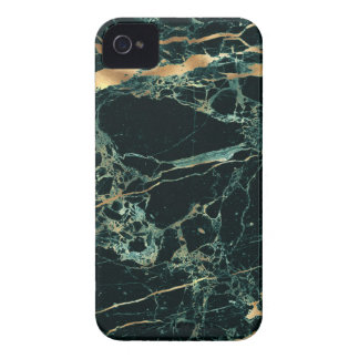 PixDezines Marble, Teal Green + Gold Veins iPhone 4 Cover