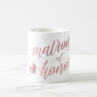 PixDezines Matron of Honor/Faux Rose Gold Coffee Mug