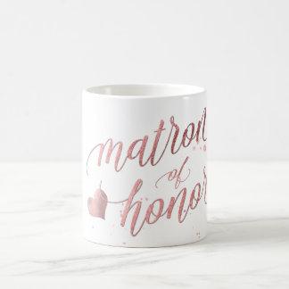 PixDezines Matron of Honour/Faux Rose Gold Coffee Mug