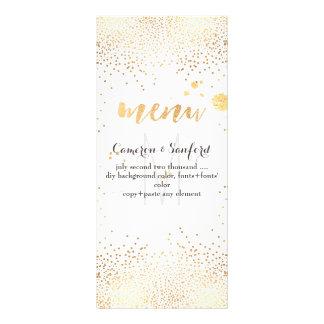 PixDezines menu dazzled gold specks/DIY background Full Colour Rack Card