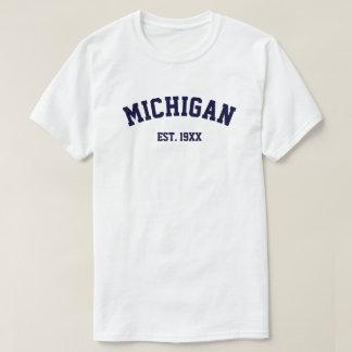 PixDezines MICHIGAN/DIY TEXT+COLOR/CAPRI BLUE T-Shirt