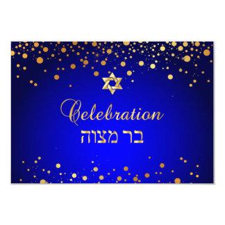 PixDezines Mitzvah Celebration, Faux Gold Confetti Card