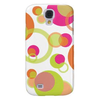PixDezines Mod Bubbles, Monogram available Samsung Galaxy S4 Case