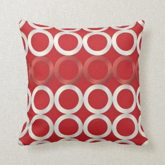 PixDezines mod rings/red+white/diy background Cushion