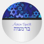 PixDezines mod stars/Star of David/Bar Mitzvah Round Sticker
