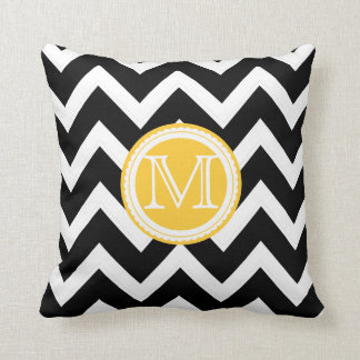 PixDezines monogram diy color chevron pattern Throw Pillow