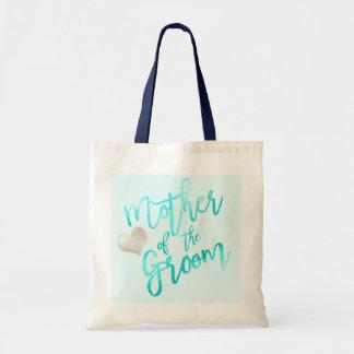 PixDezines Mother of Groom/Faux Foil/Blue/Script Tote Bag