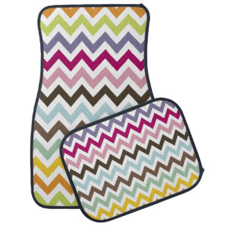 PixDezines multi colored/chevrons/DIY background Car Mat