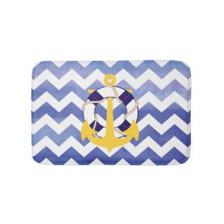 PixDezines nautical/anchor/watercolor affects Bath Mat