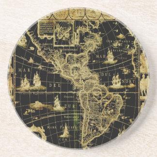 PixDezines Nautical/ vintage world map Coaster