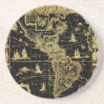 PixDezines Nautical/ vintage world map Coasters