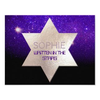 PixDezines Night Sky/Purple/Mitzvah Celebration Card