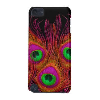 PixDezines Orange+Pink+Green Peacock iPod Touch (5th Generation) Cases