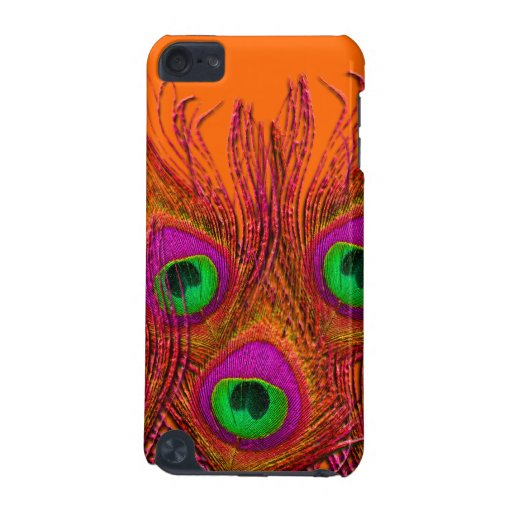 PixDezines Orange+Pink+Green Peacock iPod Touch 5G Case