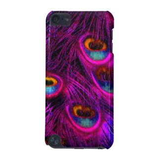 PixDezines Orange+Teal+Neon Pink Peacock iPod Touch 5G Case