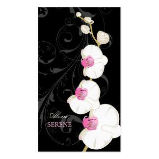PixDezines orchid+swirls/diy colors Business Cards