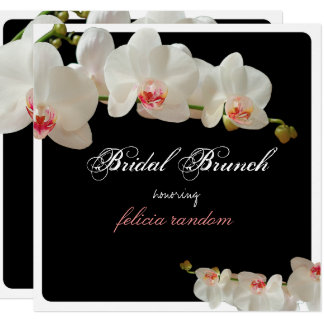 PixDezines orchids/bridal brunch/diy background Card