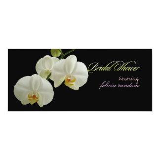 PixDezines orchids/phalaenopsis 10 Cm X 24 Cm Invitation Card