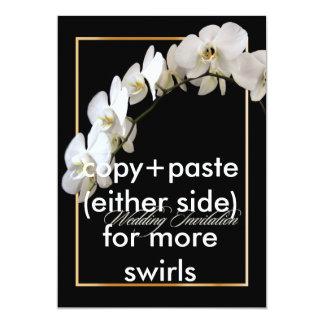 "PixDezines orchids/phalaenopsis 5"" X 7"" Invitation Card"