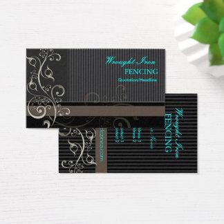 PixDezines Ornamental Swirls + pinstripes Business Card