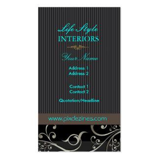 PixDezines Ornamental Swirls+pinstripes/diy color Pack Of Standard Business Cards