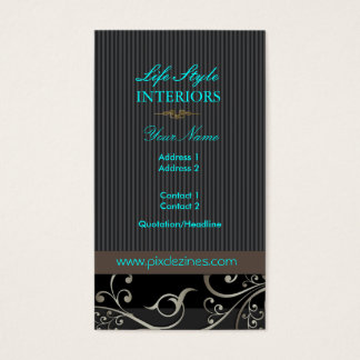 PixDezines Ornamental Swirls+pinstripes/diy color Business Card