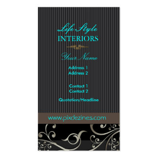 PixDezines Ornamental Swirls+pinstripes/diy color Pack Of Standard Business Cards
