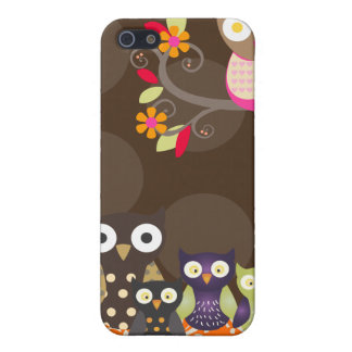 PixDezines Owl/pink+orange/DIY background color iPhone 5 Cases