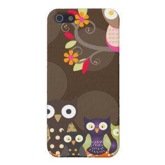 PixDezines Owl/pink+orange/DIY background color iPhone 5 Cover