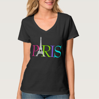PixDezines paris, eiffel tower/DIY font+color T-Shirt