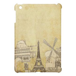 PixDezines Paris on Faux Parchment Cover For The iPad Mini