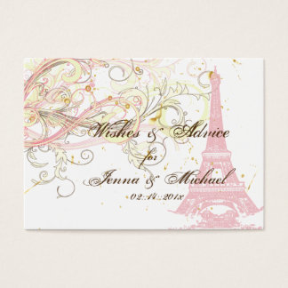 PixDezines PARIS PINK EIFFEL TOWER+WISHES+ADVICE Business Card