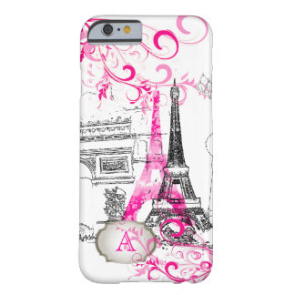 PixDezines Paris sketched/DIY background color Barely There iPhone 6 Case