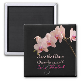 PixDezines Peach Orchid, Save the Date Magnet