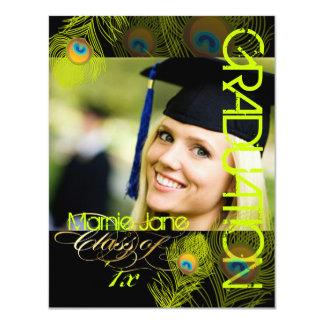 PixDezines Peacock, 2012 Graduation,diy background 11 Cm X 14 Cm Invitation Card