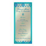 PixDezines peacock blue vendome damask, Menu Custom Invitations
