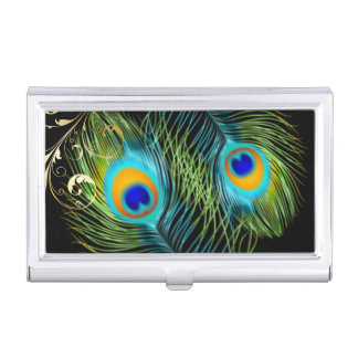 PixDezines peacock+filigree swirls/diy background Case For Business Cards
