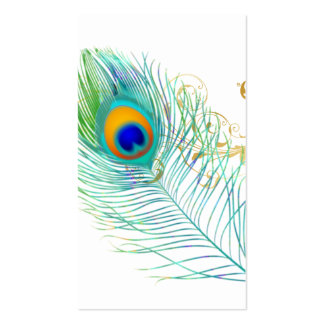 PixDezines peacock plume/diy background color Pack Of Standard Business Cards