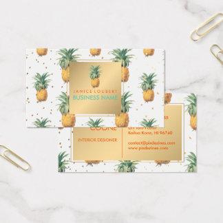 PixDezines Pineapples Pattern Business Card
