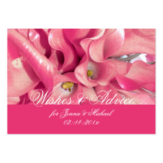 PixDezines Pink Calla Lily, Advice Cards Pack Of Chubby Business Cards