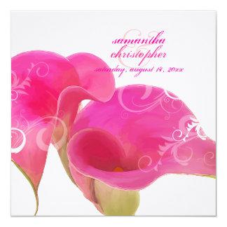PixDezines Pink Calla Lily + Swirls Card