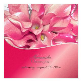 PixDezines Pink Calla lily/wedding Invitations