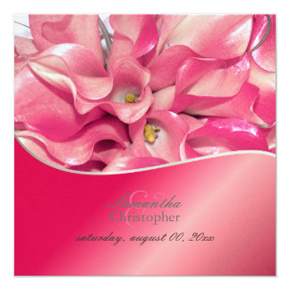 PixDezines Pink Calla lily/wedding Invitations