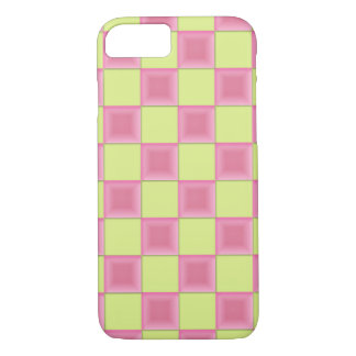 PixDezines Pink Candy+Green Checkers iPhone 7 Case