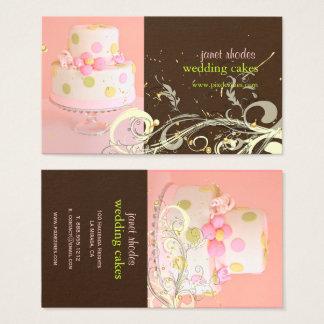 PixDezines PINK+CHOCOLATE/WEDDING CAKE/SWIRLS Business Card