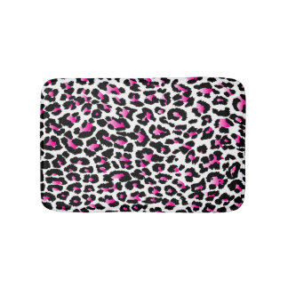 PixDezines pink leopard/DIY background color Bath Mat