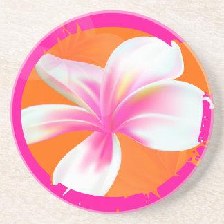 PixDezines Pink Melia, custom background color! Drink Coasters