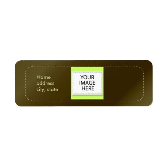 PixDezines Plain Cigar Easy Template Return Address Label