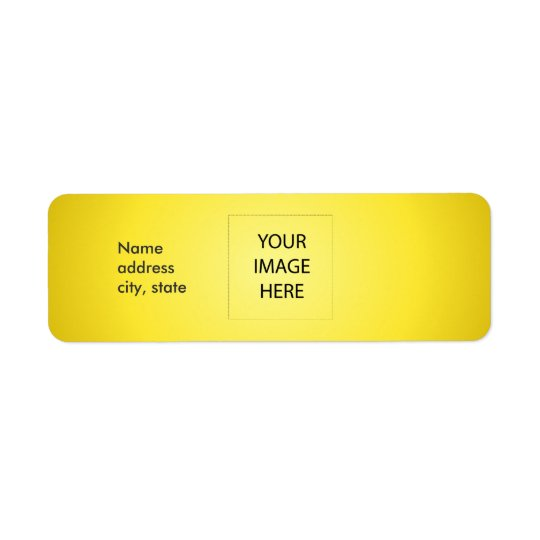 PixDezines Plain Lemon Easy Template Return Address Label