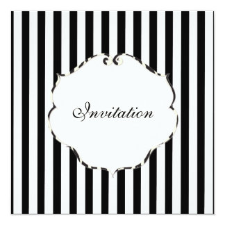 PixDezines Plain stripes black + white/zebra frame Card